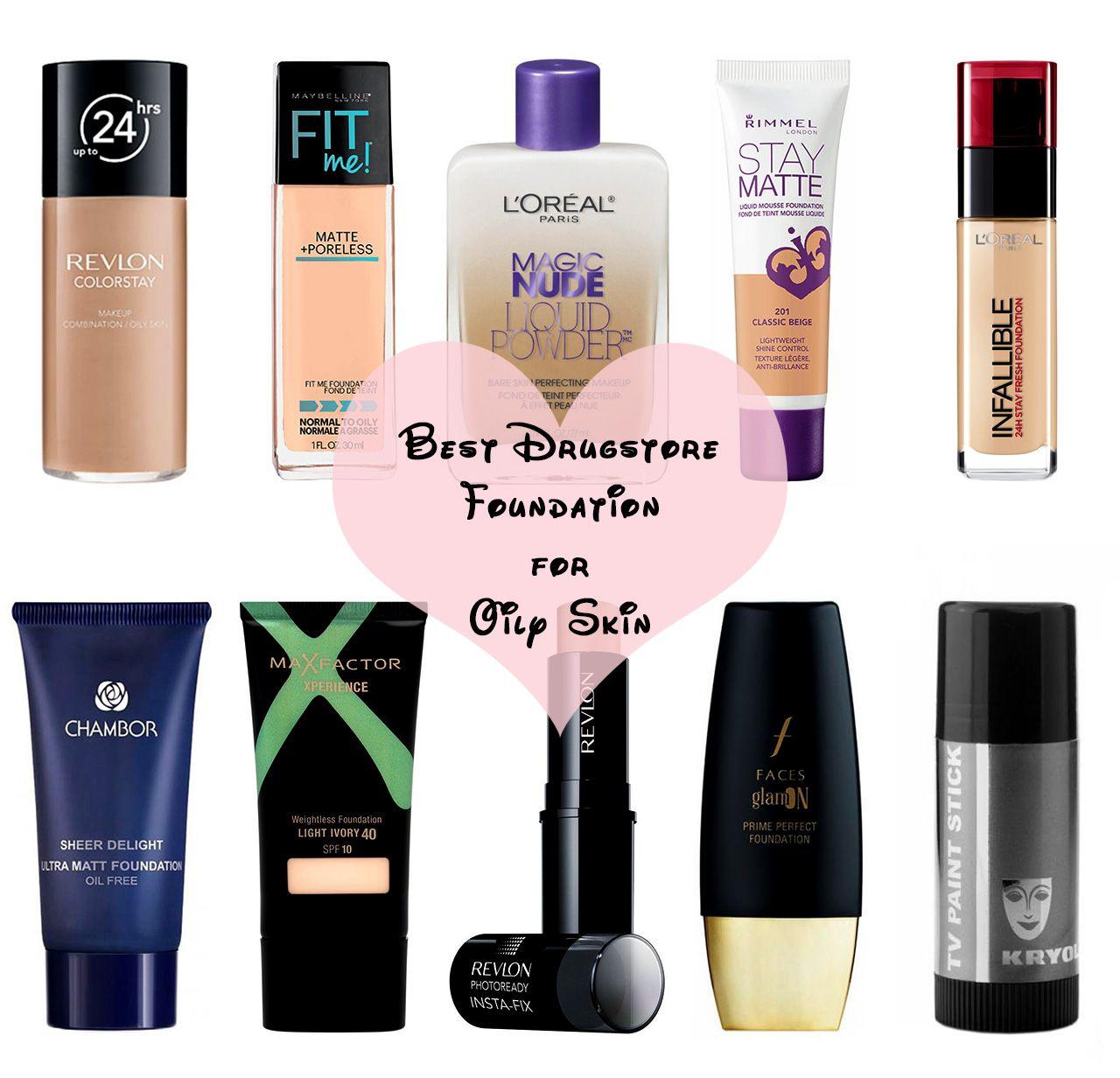 Best Drugstore Foundation for Oily Skin Foundation for