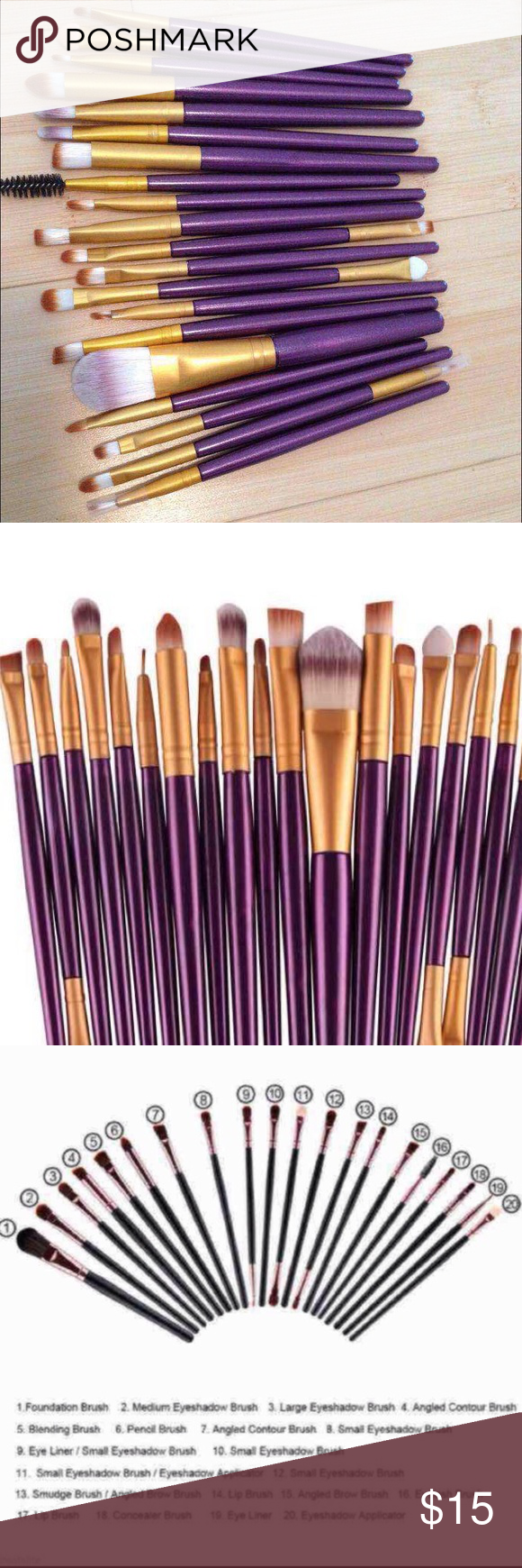 New 20pcs Makeup Brushes 20pcs Pro Makeup Sets Power