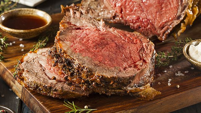Holiday Prime Rib Roast Beef - super easy to roast and to carve. Everyone LOVES Roast Beast!