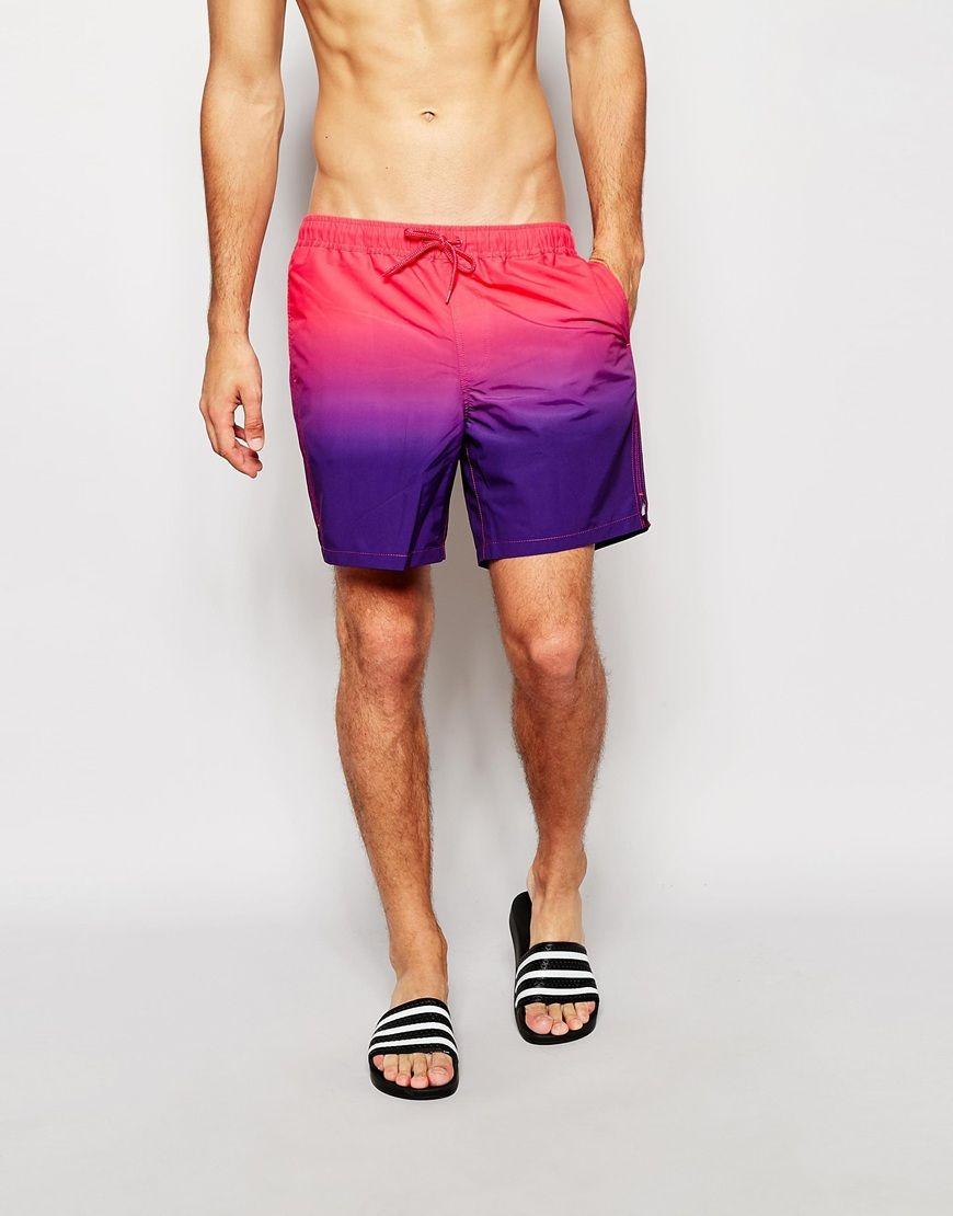 Image 1 ofASOS Swim Shorts In Mid Length