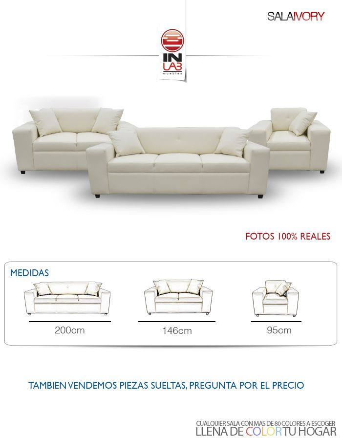 Swell Sala Ivory De Inlab Muebles Sofa Sillon Love Seat Fdp Ncnpc Chair Design For Home Ncnpcorg
