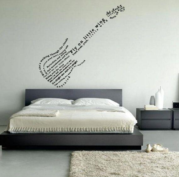 Jimi Hendrix little wings lyric guitar wall art by leebolddesigns ...