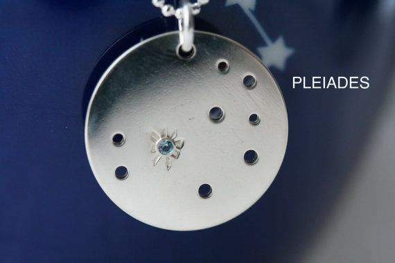 Pleiades Constellation Necklace  Customize with Any by wsayle, $39.00