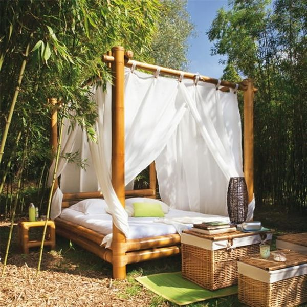 20 Fascinating Bamboo Canopy Beds And Daybeds Outdoor Beds