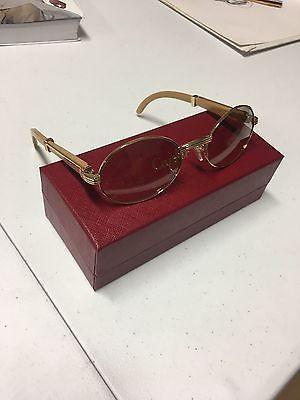 ff621b39772 Cartier Gold   Ivory Buffalo Glasses 140b 55-22 Ships Today ...