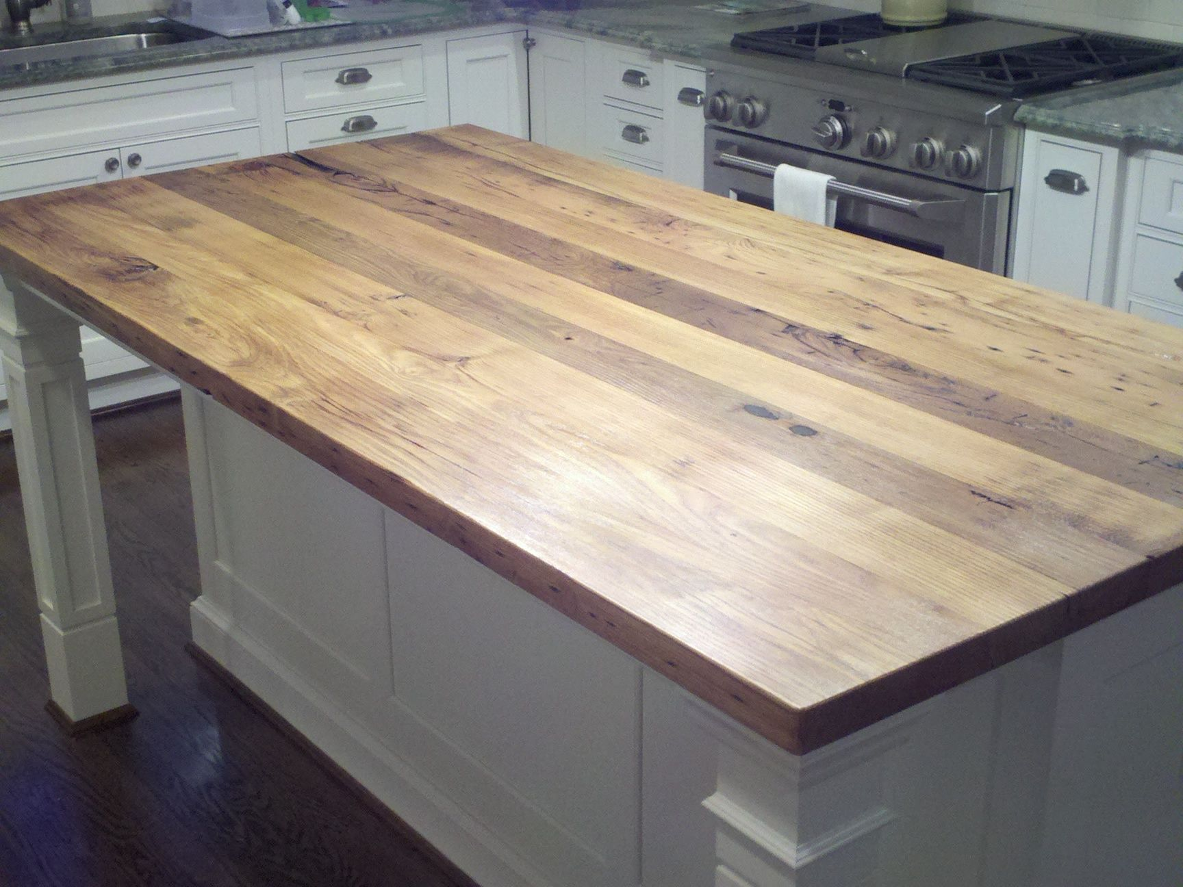 Reclaimed Lumber Island Top To Match The Kitchen Table