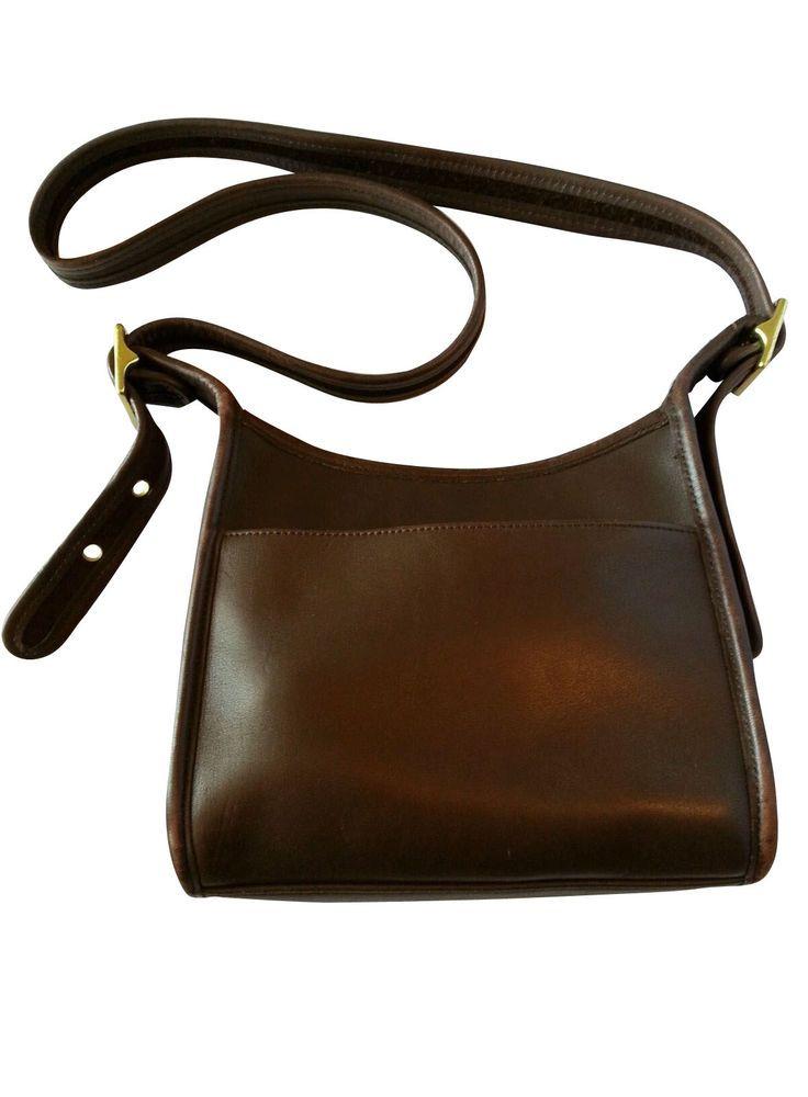 Vintage Coach Legacy Brown Leather Crossbody Bag Handbag Purse S N 9997 Messengercrossbody