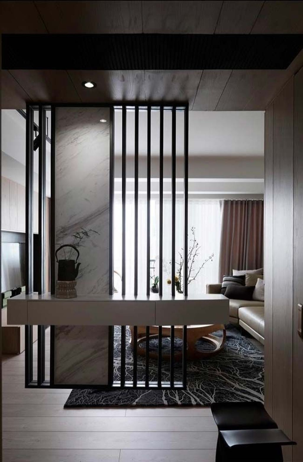 42 stunning modern partition design ideas for living room living room partition design. Black Bedroom Furniture Sets. Home Design Ideas