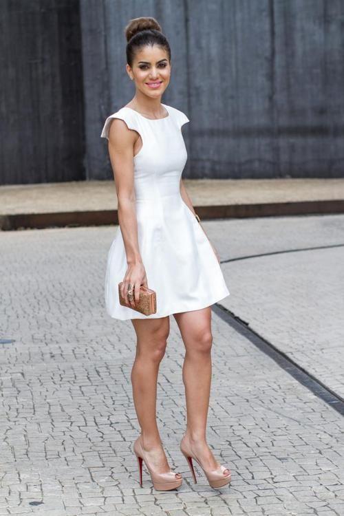 Zapatos para vestidos cortos blancos