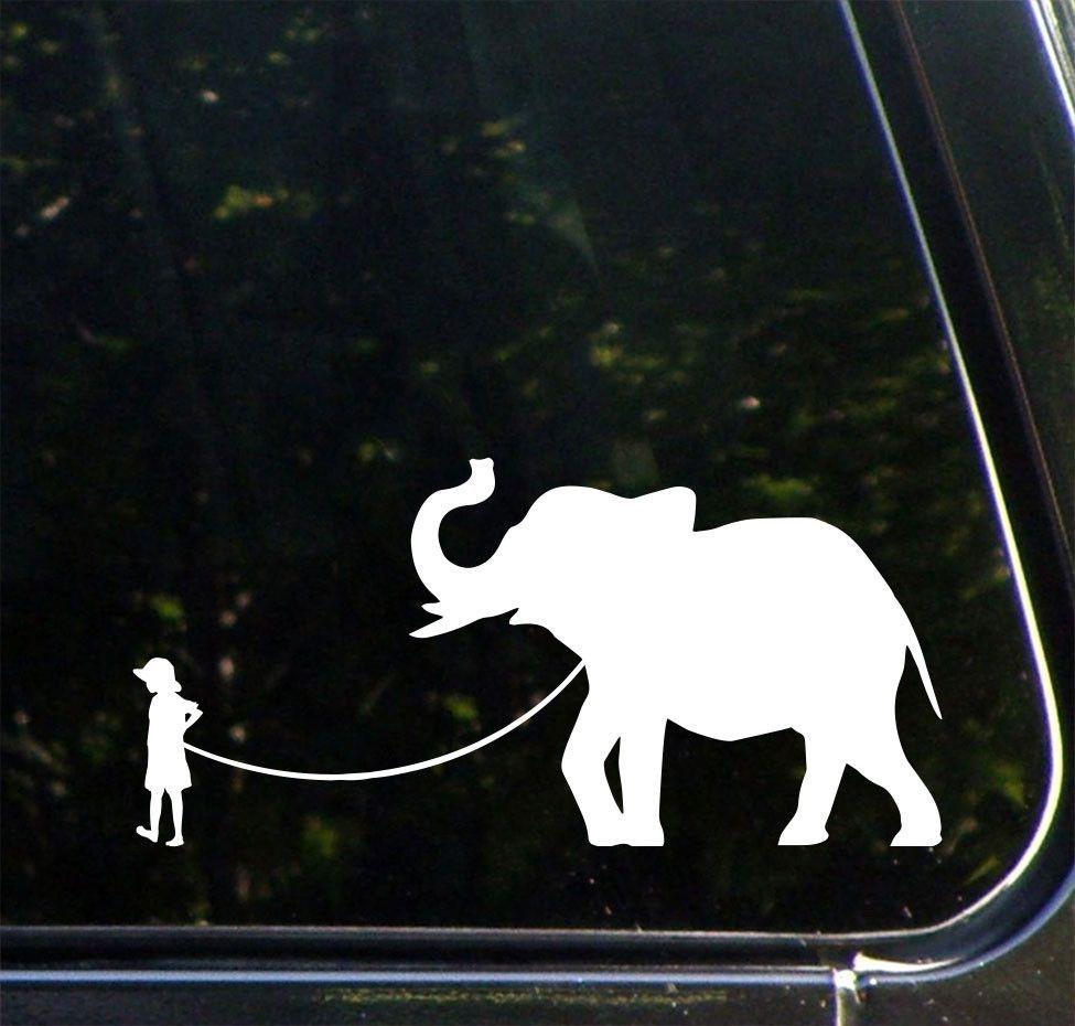 Car Pet Elephant Child With Elephant Vinyl Car Decal Sticker C Yydc 8 5 W X 4 H Variations Available Car Decals Vinyl Car Decals Car Decals Stickers [ 930 x 975 Pixel ]
