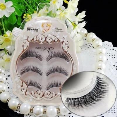 99c5184b97f Free shipping 3pcs/lot 100% handmade real mink fur false eyelash 3D strip  mink lashes thick fake faux eyelashes Makeup beauty. Yesterday's price: US  $7.99 ...