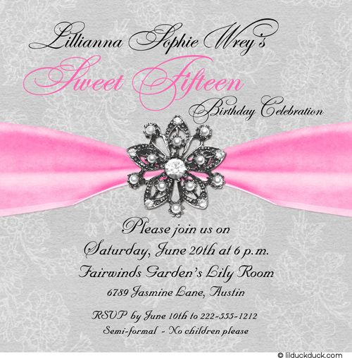 Sweet 15 Party Invitation Shine Daughter Once In A Lifetime