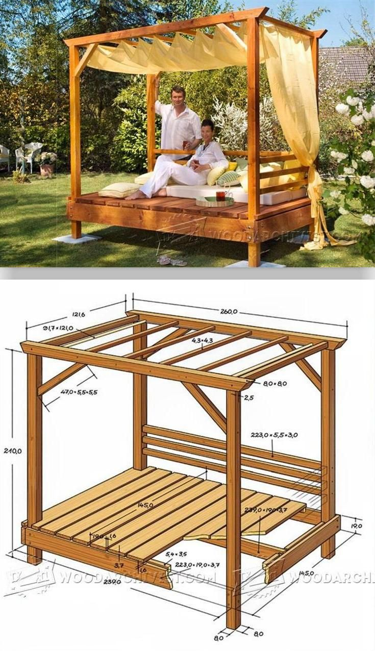 Outdoor Himmelbett Outdoor Daybed Plans Outdoor Plans And Projects Woodarchivist