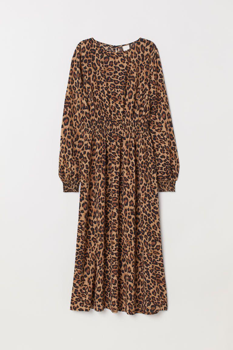Viscose Maxi Dress Beige Leopard Print Ladies H M Us Viscose Maxi Dress Leopard Maxi Dress Leather Dresses [ 1152 x 768 Pixel ]