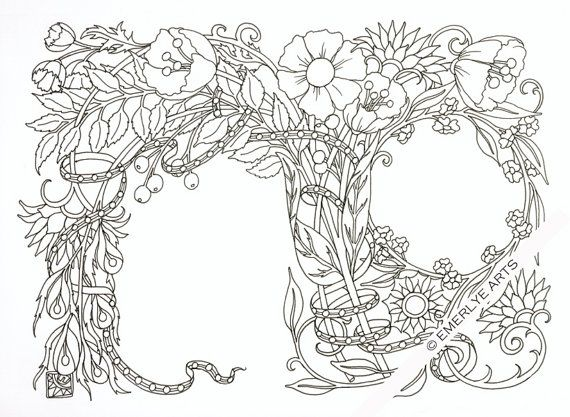 A greeting card to print out and color. Fold in half to