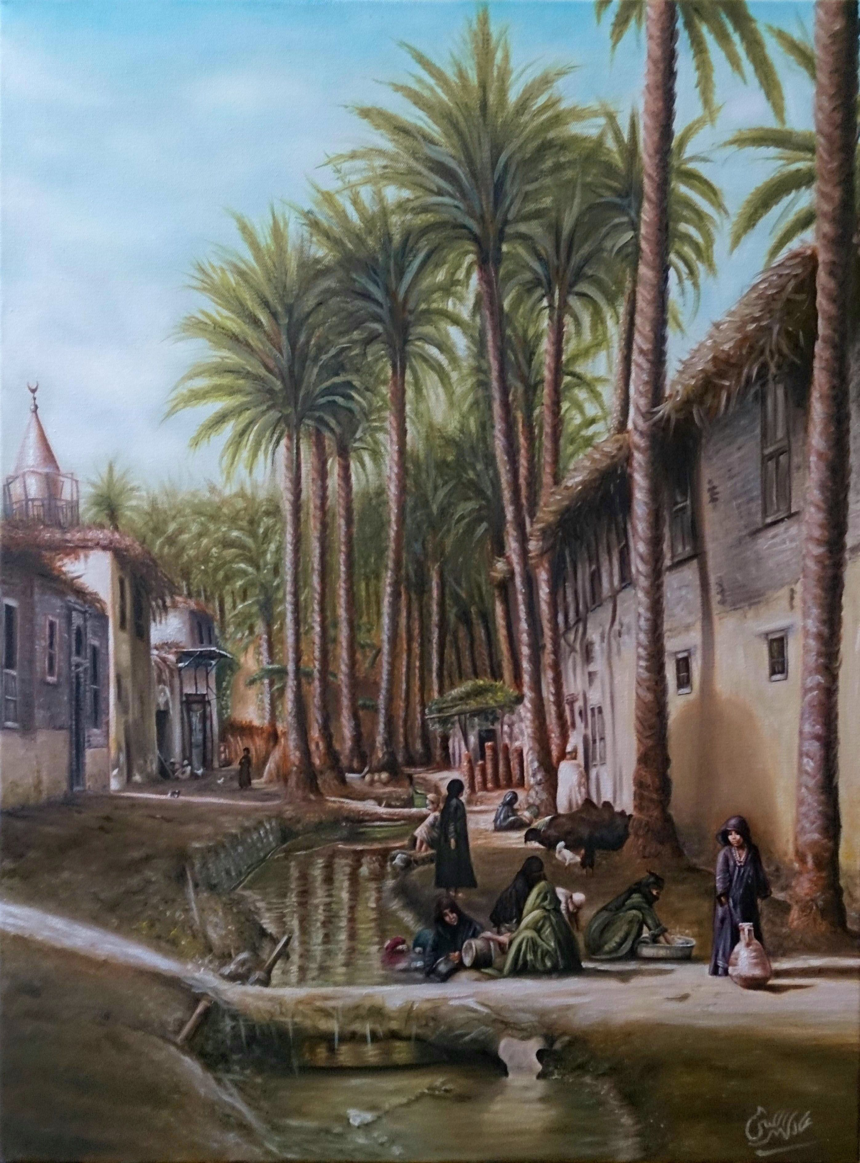 Adel Elliethy - egypt oil painting canvas 80×60 | عادل ...