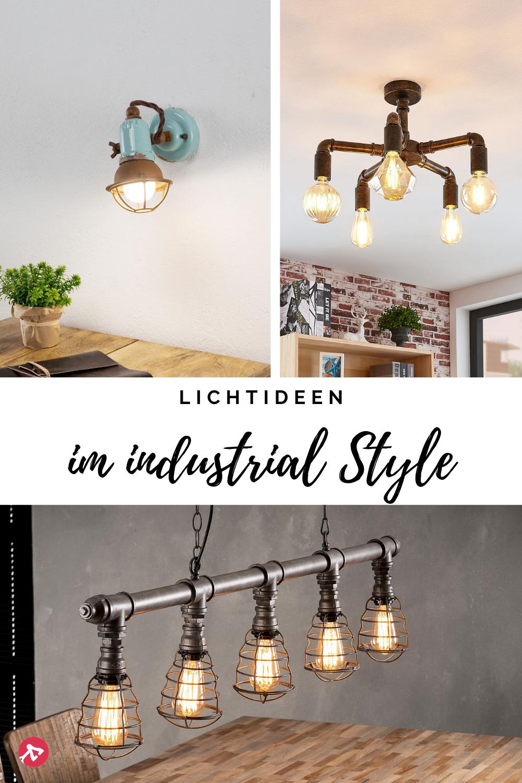 Lichtideen im Indutrial Stil in 2020 | Industrielampen