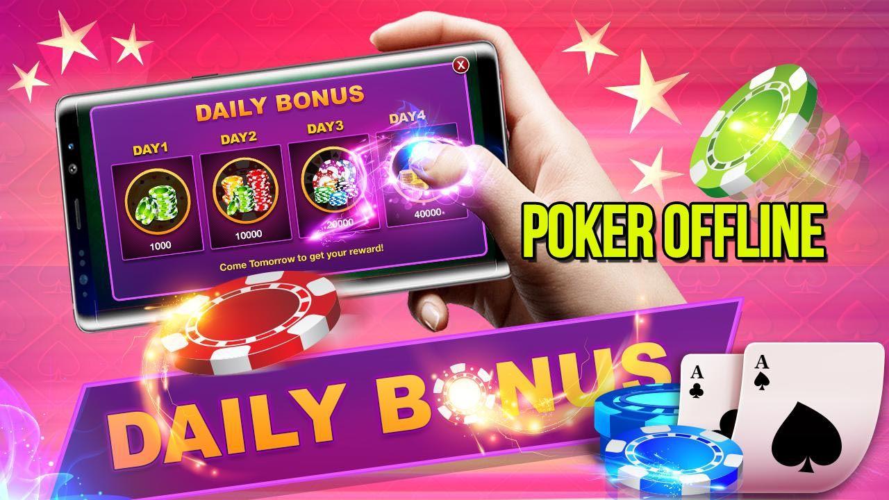 Poker Offline Mod Apk 3 9 0 Unlimited Money Poker Cards Poker Card Games