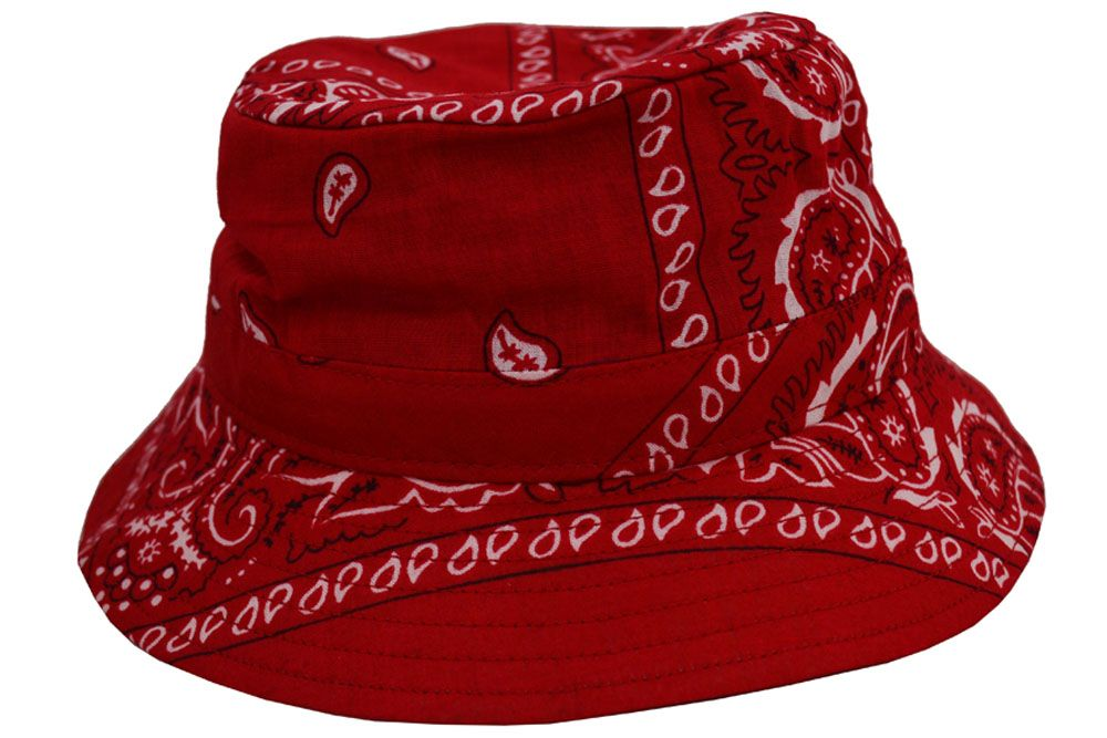 12a11ca94a6 Emstate Paisley Bandana Bucket Hat (Various Colors) in 2019 ...