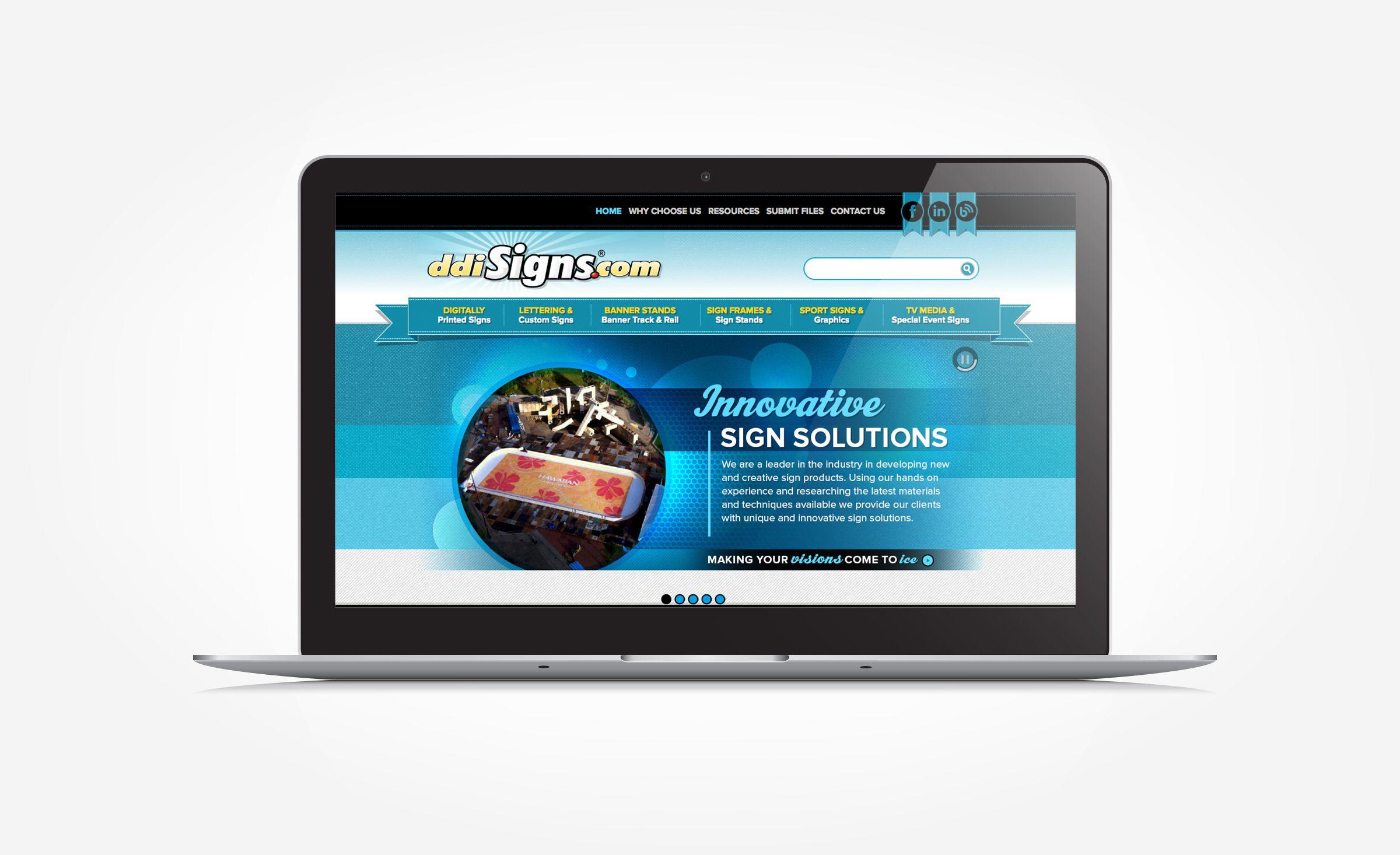 Ddi Signs Graphic D Signs Custom Signage Portfolio Web Design Website Design