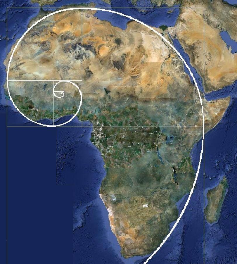 Di vincis code africa as seen from space rock formations and ear elephant fibonacci spiral in human settlement patterns gumiabroncs Images