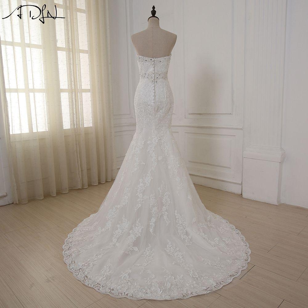 Cheap unique wedding dresses  ADLN  Mermaid Wedding Dress Sweetheart Sleeveless Custom Made