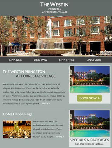 Hotel Newsletter Email Design  The Westin Princeton At Forrestal