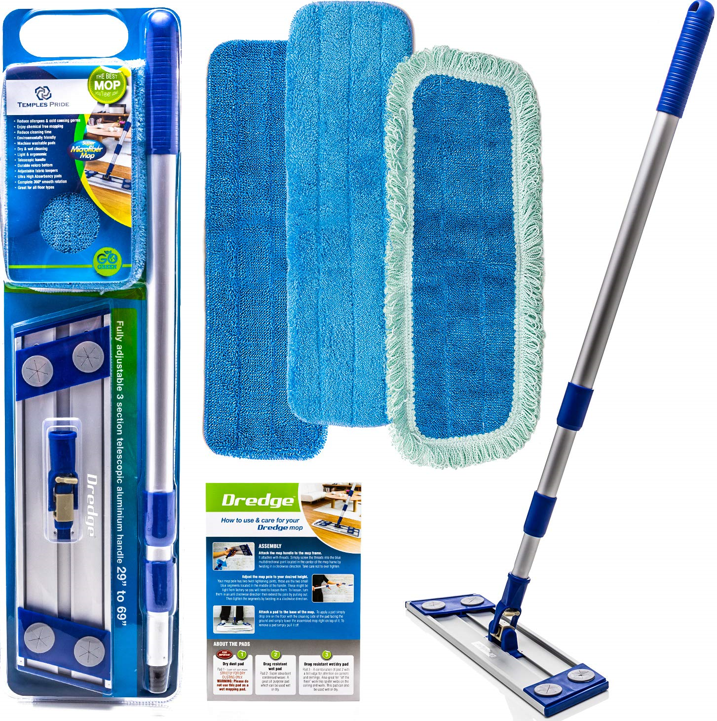Microfiber Dust Mop Microfiber Mops Washable Pads Hardwood Tile