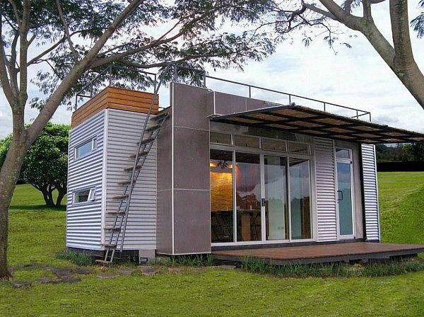 Casa Cúbica - A 160 Sq Ft Shipping Container Home Escaleras