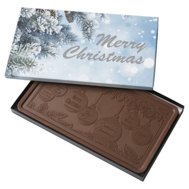 Snowy tree Christmas box of chocolate |  Snowy tree Christmas box of chocolate