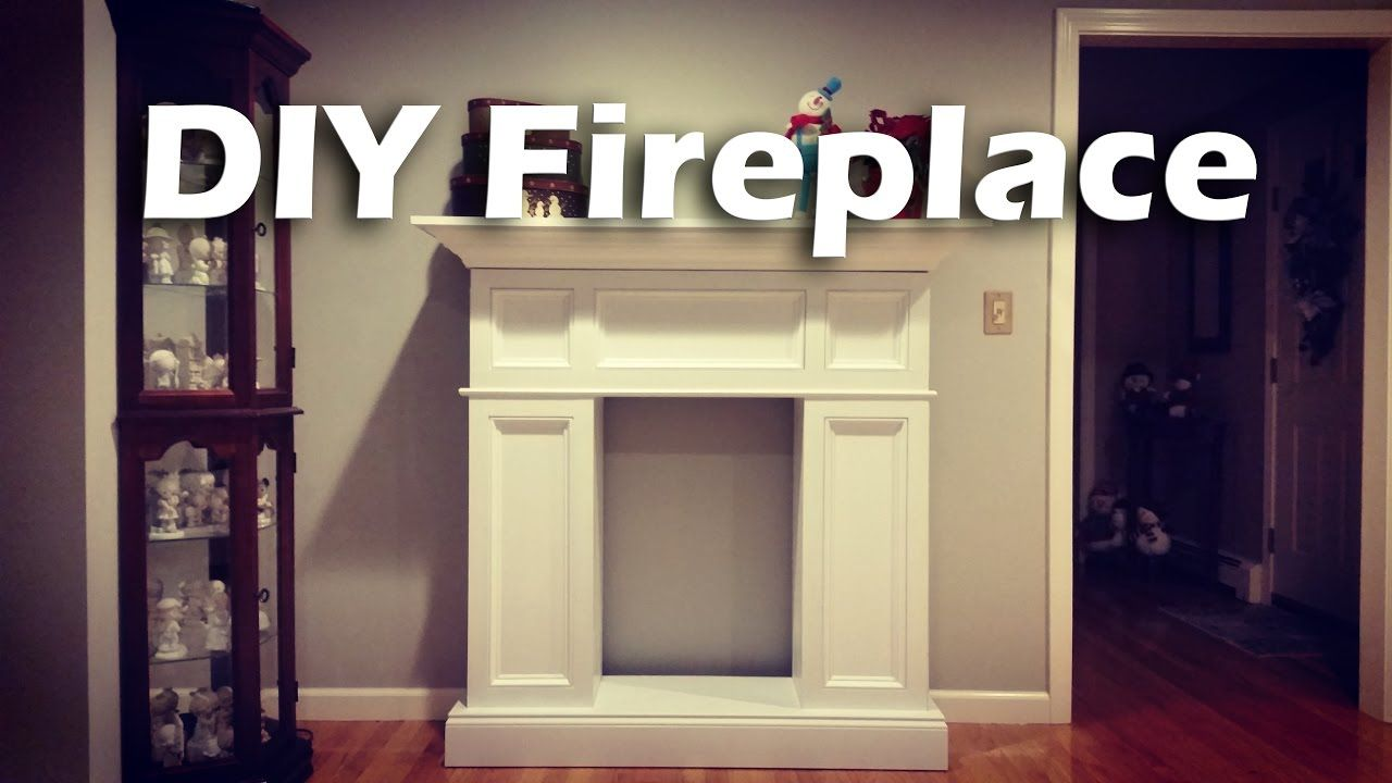 Diy faux fireplace with hidden storage woodproject diy crafts