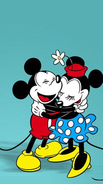Fondo De Pantalla De Dibujos Animados Mickey Y Minnie Clasico
