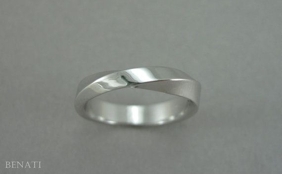 Mobius Wedding Band 4mm Mobius Wedding Ring Modern Mobius Strip