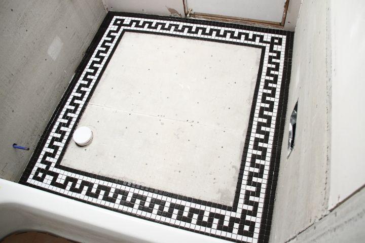 Vintage Mosaic Tile Border For The Downstairs Bathroom Blog Homeandawaywithlisa Greek Key