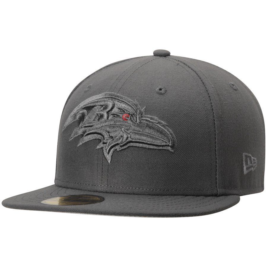 Men s Baltimore Ravens New Era Graphite Tonal League Basic 59FIFTY Fitted  Hat 8edd0e3d8