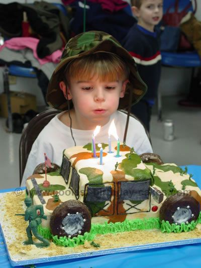 over the top army theme birthday party for kids Coolest Army