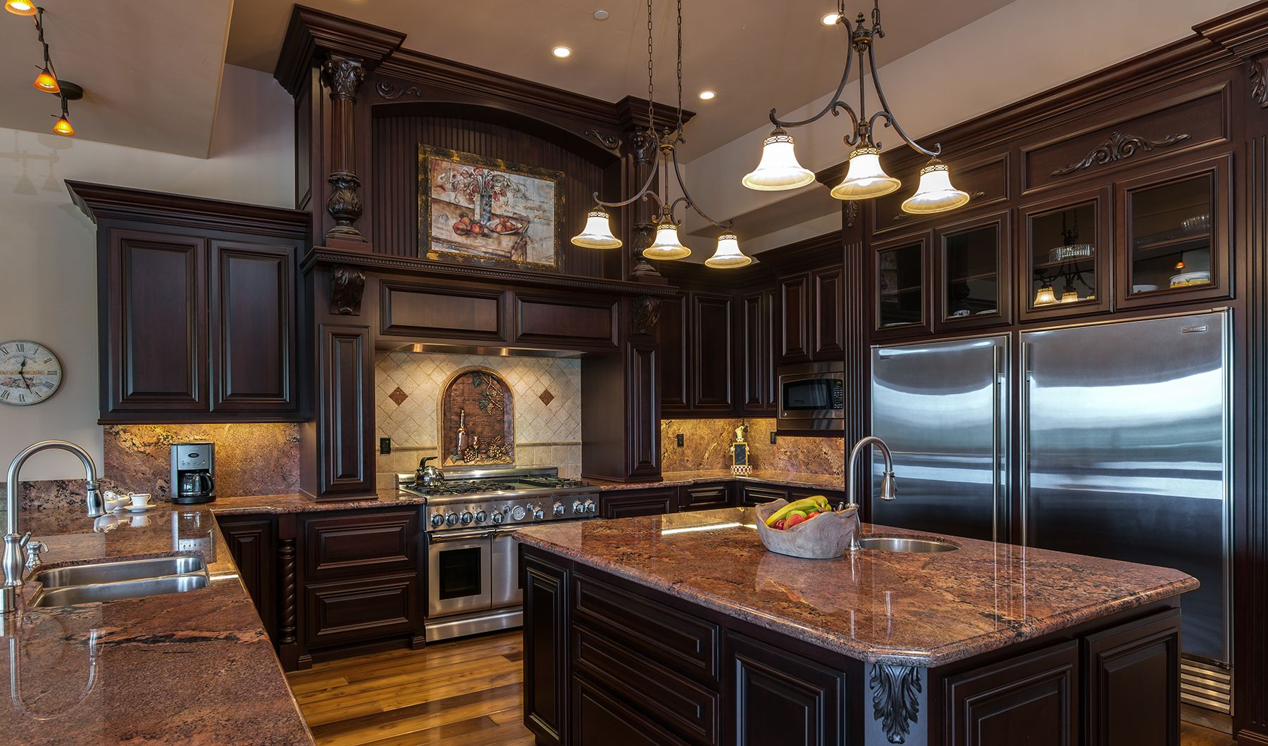 interior commercial kitchen lighting custom. Gourmet Kitchen, Suitable For The Finest Chef With Rich Cabinetry, Granite Countertops, A Interior Commercial Kitchen Lighting Custom