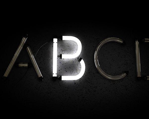 Free Neon Alphabet Download Cinema 4d on Behance | 3D design