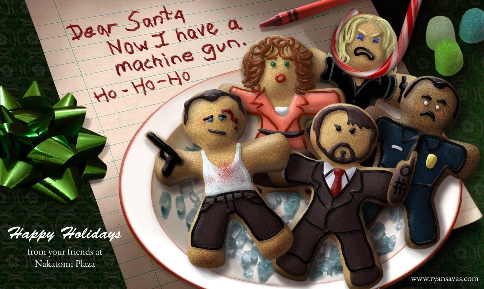 Alan Rickman looks delicious as a Hans Gruber Christmas cookie ...