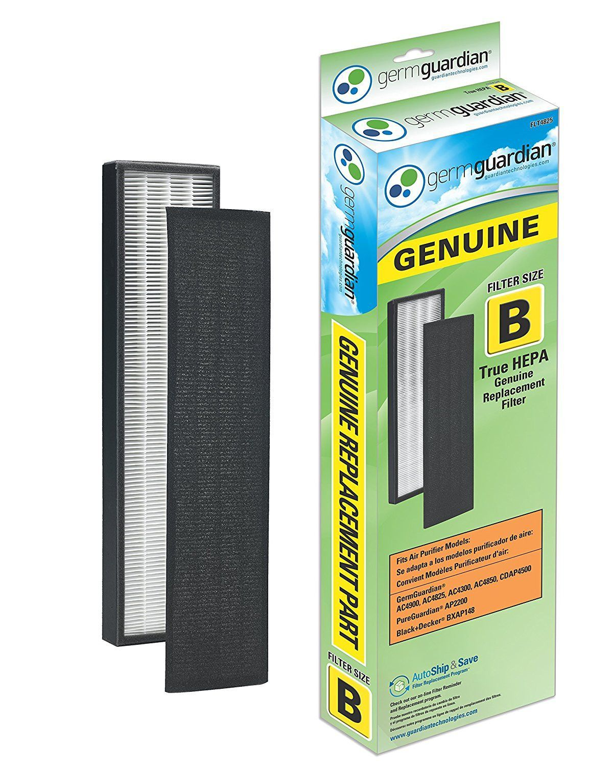 GermGuardian FLT4825 GENUINE True HEPA Replacement Filter