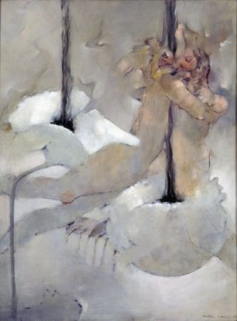 Poppies 1987 Oil on canvas. Dorothea Tanning 51 3/16 x 38 3/16 in.