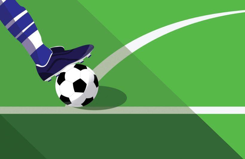 Green Blue Football Kick Wallpaper Mural Murals Wallpaper Mural Wallpaper Football Wallpaper Wallpaper
