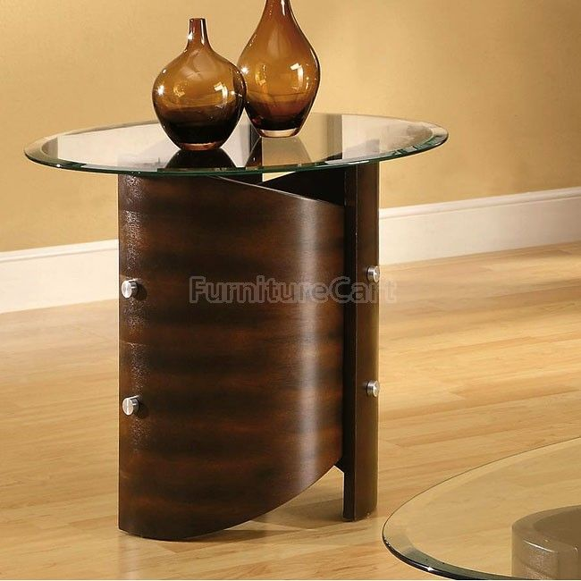 Bentwood Shaped End Table Contemporary End Tables Coaster Furniture End Tables
