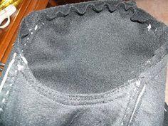 O tipo de manga deste casaco designa-se por manga aplicada (cosida à cava) e é cosida ao casaco depois das costuras laterais deste e das man...