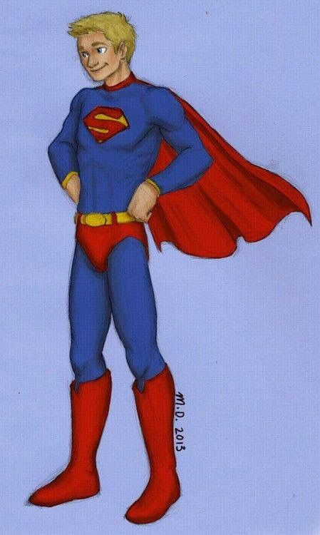 It's Jason as a blond superman hahahahah