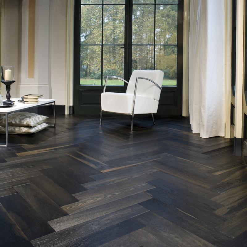 Chateau Francia Black Oiled Oak Herringbone Floor in 2020