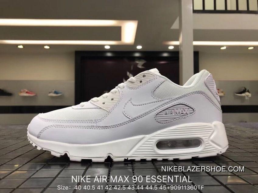 buy popular cb9f5 13441 Nike Air Max 90 Essential Mens Retro Running Shoes Light Purple White Copuon