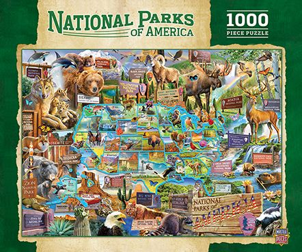 MasterPieces National Parks of Amercia Maps 1000 Pieces Jigsaw Puzzle