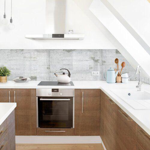 Williston Forge Hart-Kunststofffolie Spritzschutzpaneel Selbstklebend Bledsoe   Wayfair.de #kitchentips