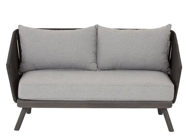 Delightful Alif Garden 2 Seater Sofa, Grey Acacia | Made.com